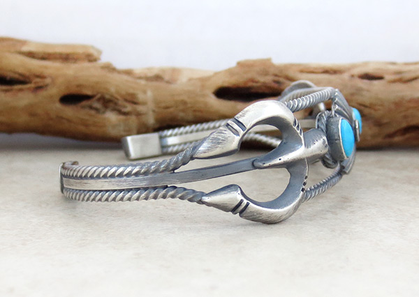 Image 2 of      Turquoise & Sterling Silver Bracelet Native American Jewelry - 5037rb