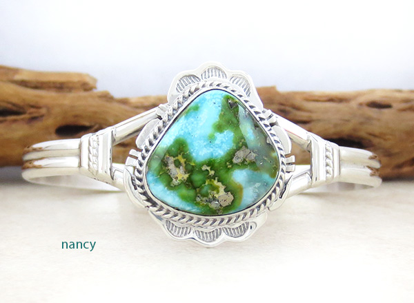 Image 0 of        Turquoise & Sterling Silver Bracelet Native American Jewelry - 5040sn