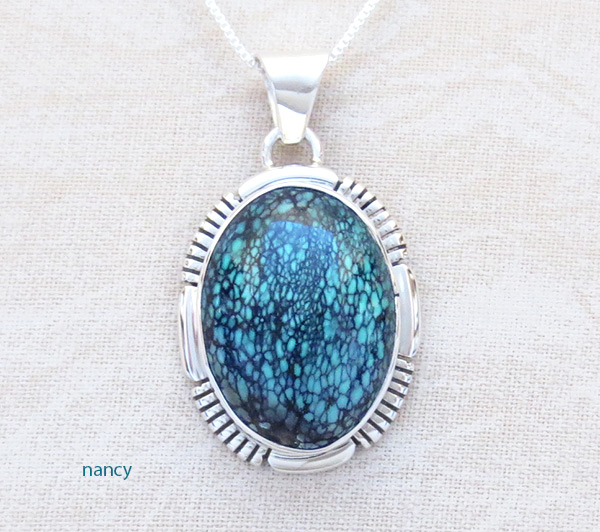 Image 0 of    Turquoise & Sterling Silver Pendant Native American Jewelry - 5316at