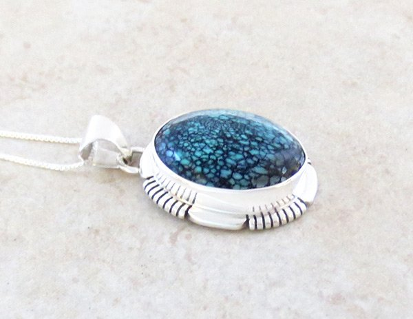 Image 2 of    Turquoise & Sterling Silver Pendant Native American Jewelry - 5316at