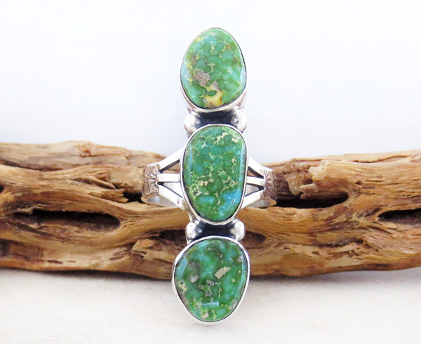 Sonoran Turquoise & Sterling Silver Ring Sz 9.25 Navajo Jewelry - 5317sn