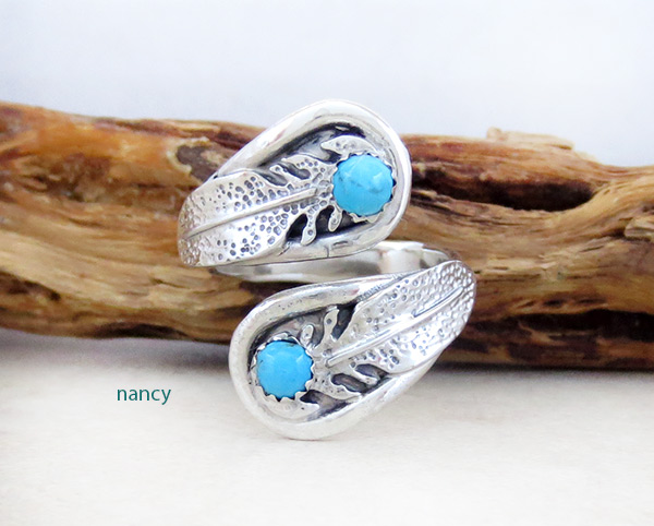 Image 0 of  Turquoise & Sterling Silver Adjustable Ring Native American Jewelry - 4935rb