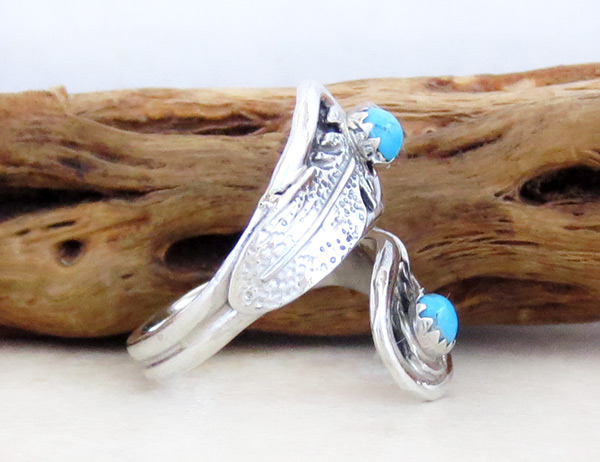 Image 2 of  Turquoise & Sterling Silver Adjustable Ring Native American Jewelry - 4935rb