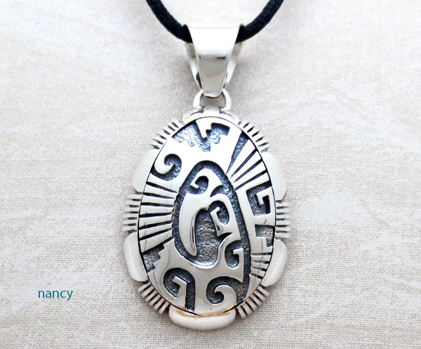 Image 0 of      Sterling Silver Overlay Pendant Native American Jewelry - 5044at