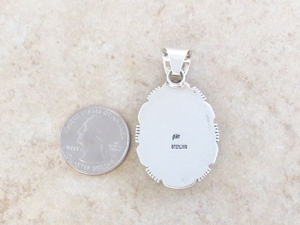 Image 3 of      Sterling Silver Overlay Pendant Native American Jewelry - 5044at