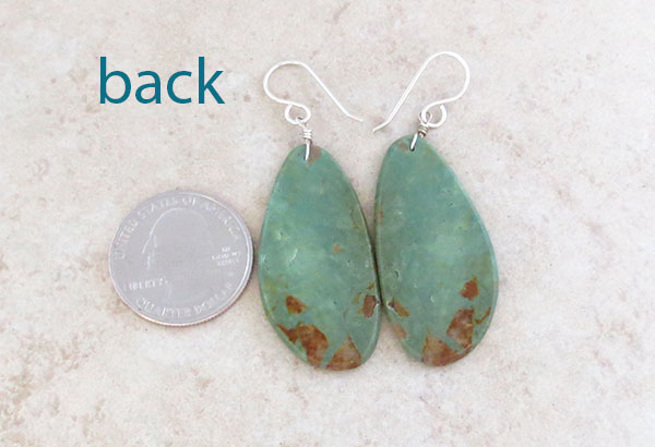 Image 2 of  Native American Turquoise Slab Earrings Kewa Jewelry - 4947pl