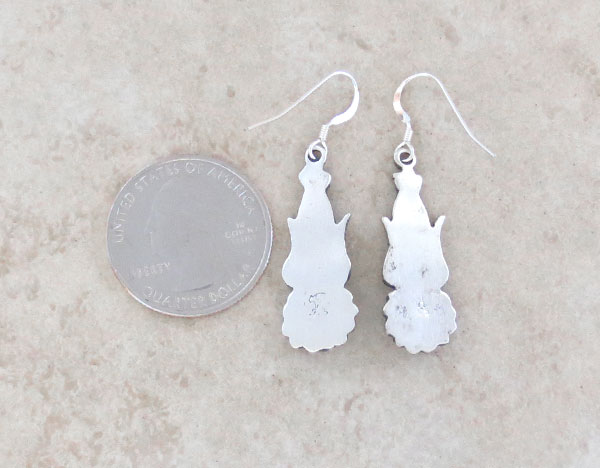 Image 2 of Sterling Silver Earrings Native American Navajo Jewelry - 4798rb