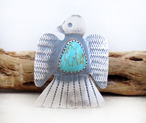 Image 0 of   Native American Jewelry Turquoise & Sterling Silver Ring Sz 9.5 - 4769rb