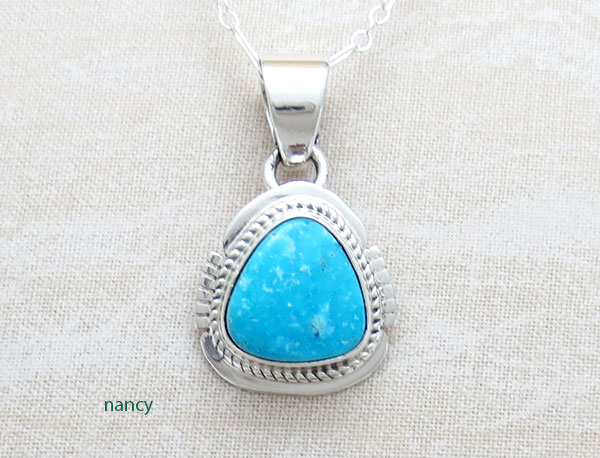 Image 0 of   Kingman Turquoise Pendant Native American Jewelry - 4799sn