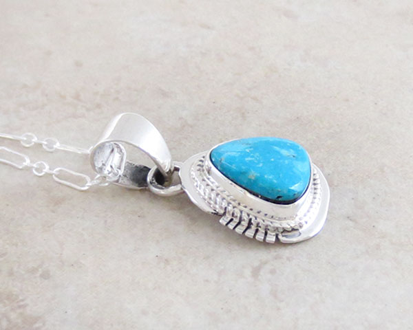 Image 2 of   Kingman Turquoise Pendant Native American Jewelry - 4799sn