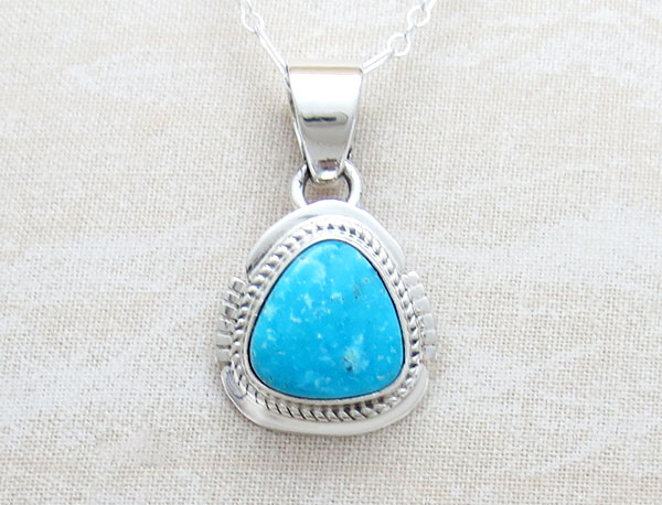 Kingman Turquoise Pendant Native American Jewelry - 4799sn