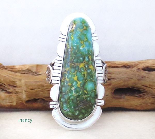 Image 0 of      Turquoise & Sterling Silver Ring Sz 9 Native American Made Jewelry - 5327sn