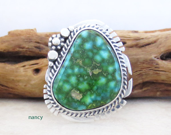 Image 0 of         Turquoise & Sterling Silver Ring Sz 8 Native American Jewelry - 5326sn