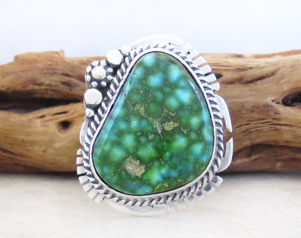 Turquoise & Sterling Silver Ring Sz 8 Native American Jewelry - 5326sn