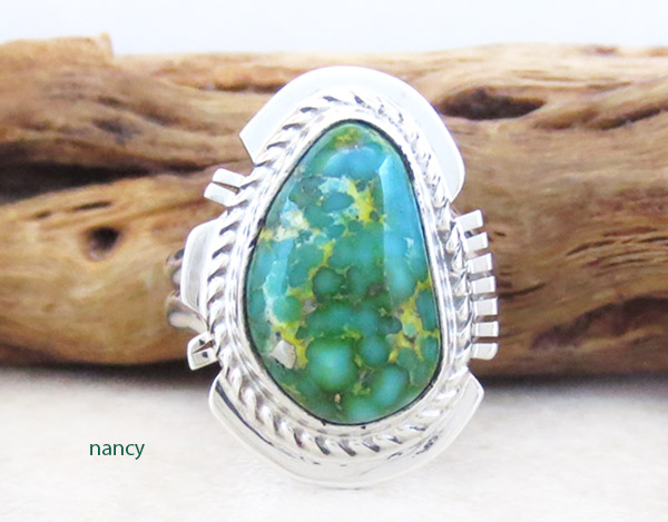 Image 0 of     Small Turquoise & Sterling Silver Ring Sz 6 Native American Jewelry - 5322sn