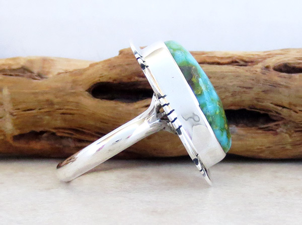 Image 2 of      Turquoise & Sterling Silver Ring Sz 9 Native American Jewelry - 4960sn
