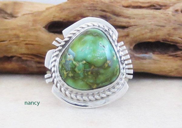 Small Turquoise & Sterling Silver Ring Sz 6 Native American Jewelry - 4961sn