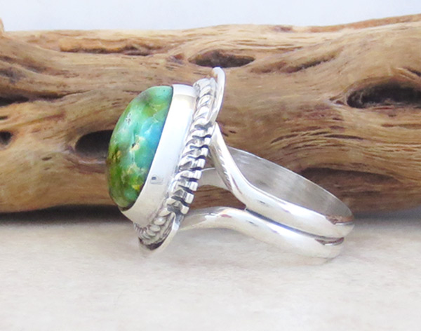 Image 2 of   Small Turquoise & Sterling Silver Ring Sz 6 Native American Jewelry - 4961sn