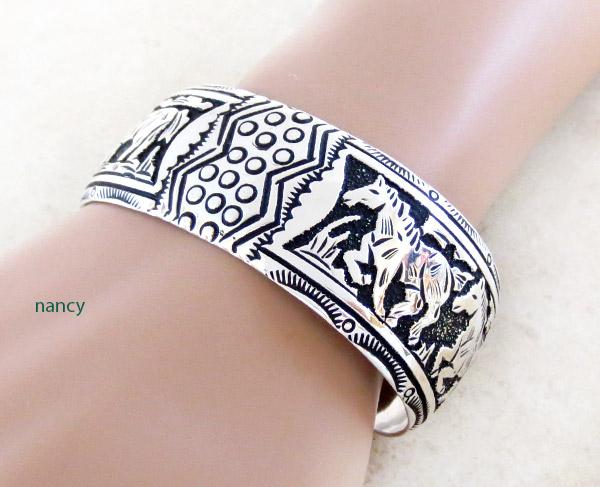 Image 0 of Sterling Silver Overlay Bracelet Native American Richard Singer - 3375rs
