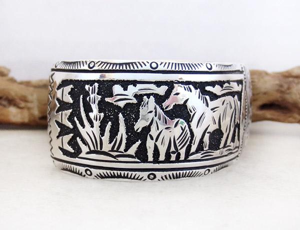 Image 2 of Sterling Silver Overlay Bracelet Native American Richard Singer - 3375rs