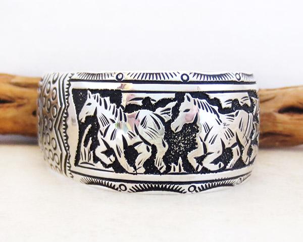 Image 3 of Sterling Silver Overlay Bracelet Native American Richard Singer - 3375rs
