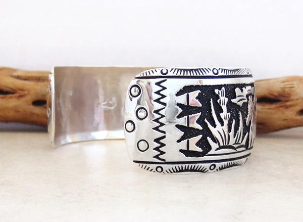 Image 4 of Sterling Silver Overlay Bracelet Native American Richard Singer - 3375rs