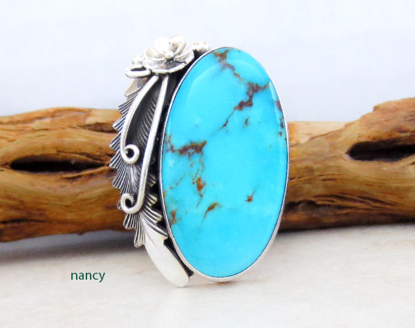 Image 0 of      Turquoise & Sterling Silver Ring Sz 9 Native American Jewelry - 4967pl