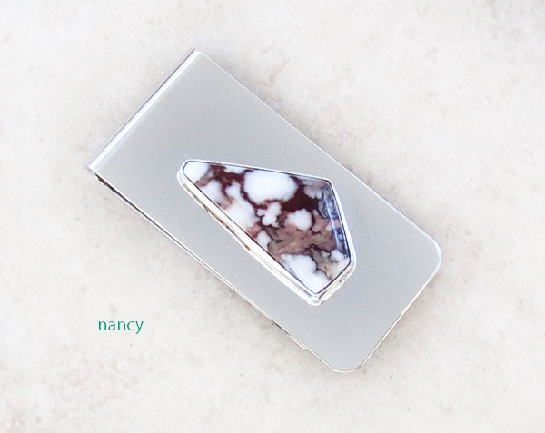 Image 0 of         Wild Horse Stone Money Clip Native American - 5342sn