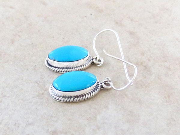 Image 1 of Sleeping Beauty Turquoise & Sterling Silver Earrings Navajo Jewelry - 4775sn