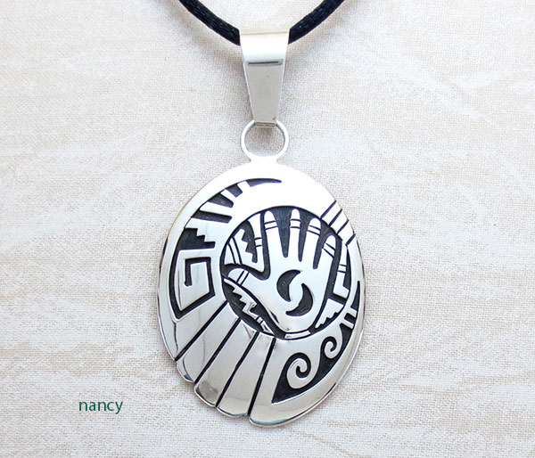 Sterling Silver Overlay Pendant Native American Jewelry - 4964rb