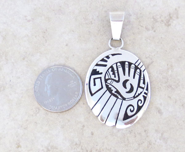 Image 1 of Sterling Silver Overlay Pendant Native American Jewelry - 4964rb
