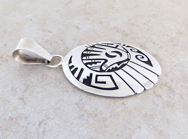 Image 2 of Sterling Silver Overlay Pendant Native American Jewelry - 4964rb