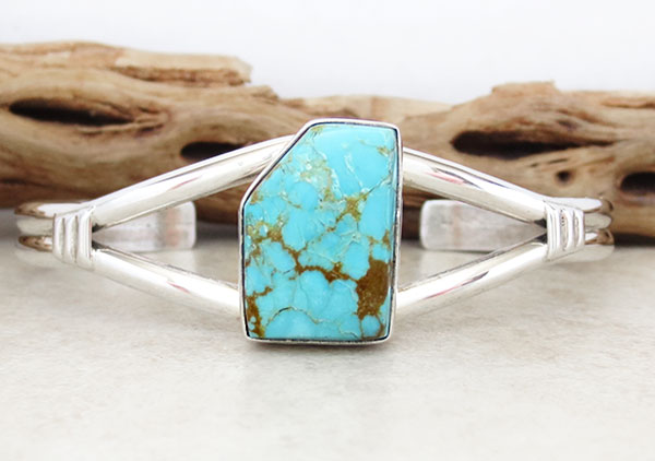 Turquoise & Sterling Silver Bracelet Native American Jewelry - 4970sn