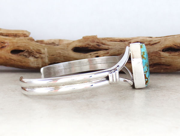 Image 2 of     Turquoise & Sterling Silver Bracelet Native American Jewelry - 4970sn