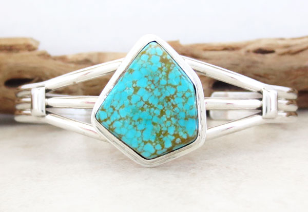 Image 0 of Native American Jewelry Turquoise & Sterling Silver Bracelet - 5054sn