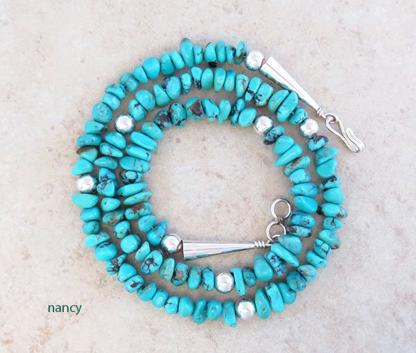 Image 0 of Turquoise & Sterling Silver Necklace 19