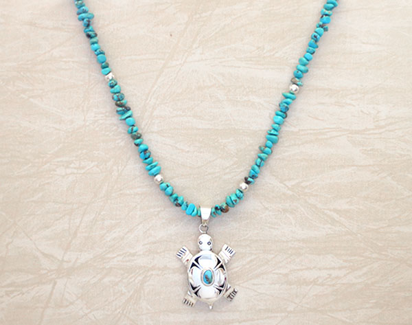 Image 1 of Turquoise & Sterling Silver Necklace 19