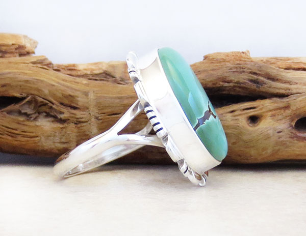 Image 2 of    Native American Jewelry Turquoise & Sterling Silver Ring Sz 9 - 5347at