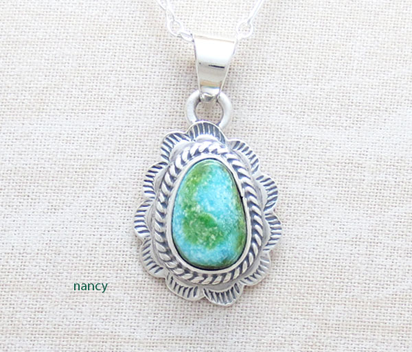 Image 0 of Turquoise & Sterling Silver Pendant Native American Jewelry - 4965sn