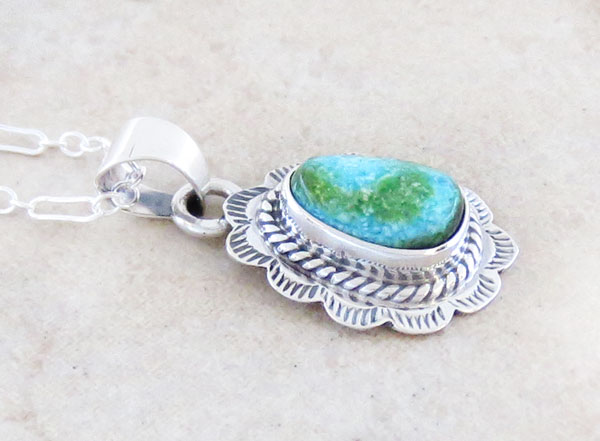 Image 2 of Turquoise & Sterling Silver Pendant Native American Jewelry - 4965sn