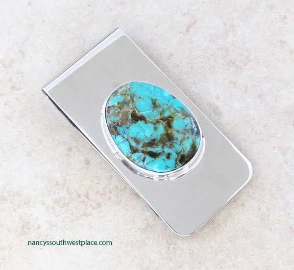 Native American Made Turquoise Money Clip - 5370sn