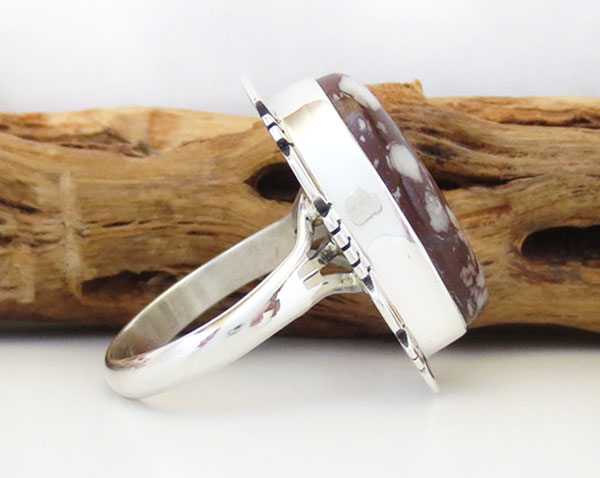 Image 2 of    Native American Jewelry Wild Horse Stone & Sterling Silver Ring Sz 7 - 4976sn