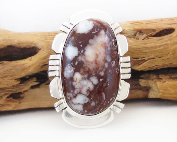 Native American Jewelry Wild Horse Stone & Sterling Silver Ring Sz 7 - 4976sn
