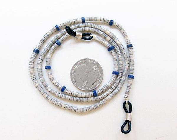 Lapis & Heishi Eyeglass Chain 25 Long Native American Made - 5065rio