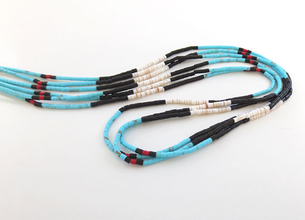 Image 0 of Handcrafted Heishi Beads, 3 Strand Necklace Native American Jewelry - 5104rio