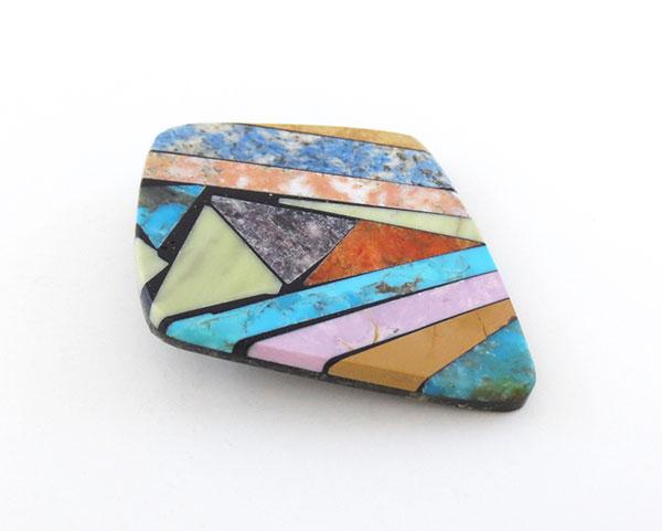 Image 2 of     Turquoise Shell Inlay Pendant Native American Kewa Jewelry - 5378mlt