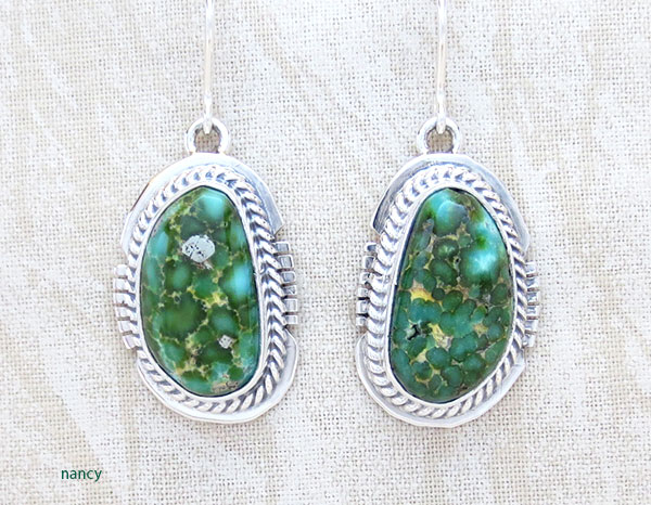 Image 0 of     Turquoise & Sterling Silver Earrings Native American Jewelry - 5105sn