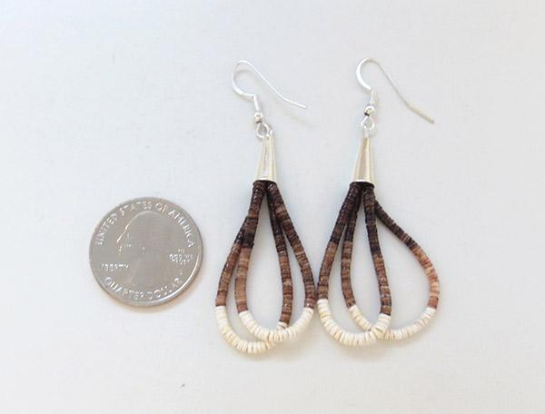 Image 2 of         Fine Clam Shell Heishi Earrings Santo Domingo Jewelry - 1918rio