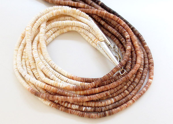 Image 3 of  Santo Domingo Kewa 5 Strand Heishi Necklace 24