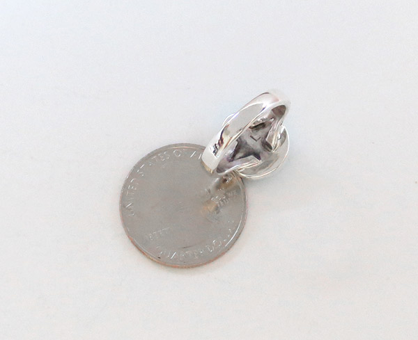 Image 3 of   Small Turquoise & Sterling Silver Ring Size 6 Native American Jewelry - 1925sn